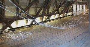 Hängebrücke, Boot, 2015, Papier, Draht, IrisFlexer