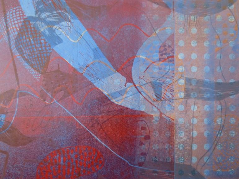 Diabellivariationen 4, Holz Linolschnitt, 42 x 29 cm, Iris Flexer 2016