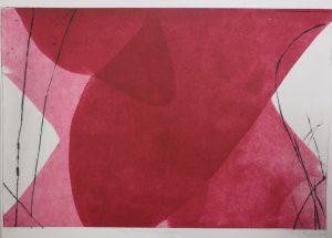 Gigue, Radierung, 28 x 50 cm, Iris Flexer 2008