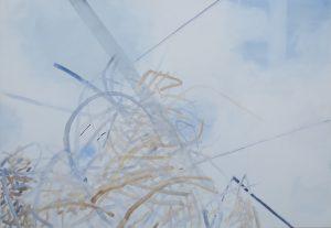 Lichtsterne 1, 70 x 110 cm, Malerei auf Leinwand, Iris Flexer 2018