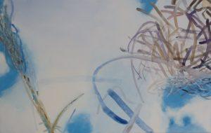 Lichtsterne 2, 70 x 110 cm, Malerei auf Leinwand, Iris Flexer 2018