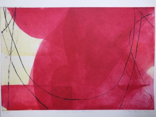 Menuet, Radierung zu J.S. Bach Cellosuiten, 28 x 50 cm, Iris Flexer 2008