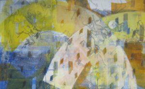 Nachtcafé, 95x160cm, Malerei auf Leinwand, Iris Flexer 2015