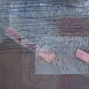 Nachtstück 1, Mischtechnik, 50 x 50 cm, Iris Flexer 2018