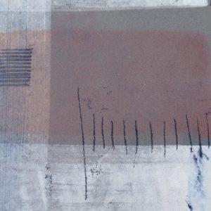Nachtstück 2, Mischtechnik, 50 x 50 cm, Iris Flexer 2018
