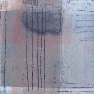 Nachtstück 3, Mischtechnik, 50 x 50 cm, Iris Flexer 2018