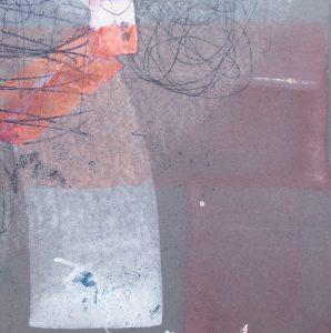 Nachtstück 5, Mischtechnik, 50 x 50 cm, Iris Flexer 2018