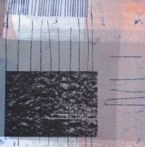 Nachtstück 6, Mischtechnik, 50 x 50 cm, Iris Flexer 2018