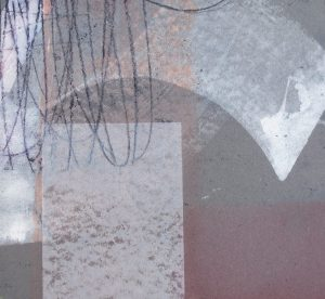 Nachtstück 7, Mischtechnik, 50 x 50 cm, Iris Flexer 2018