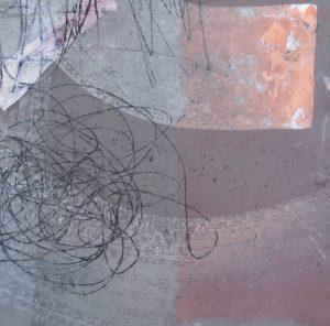 Nachtstück 8, Mischtechnik, 50 x 50 cm, Iris Flexer 2018