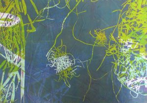 Serie Sterntaler 2, Holzschnitt, 21 x 29 cm, Iris Flexer 2018