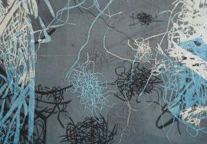 Serie Sterntaler 6, Holzschnitt, 21 x 29 cm, Iris Flexer 2018