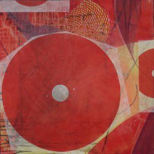 Sommer (Allegro), 100 x 100 cm, Malerei Collage auf Leinwand, Iris Flexer 2018