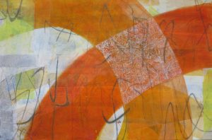 Sommertanz, 70 x 110 cm, Malerei auf Leinwand, Iris Flexer 2015