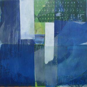Winter (Maestoso), 100 x 100 cm, Malerei Collage auf Leinwand, Iris Flexer 2018