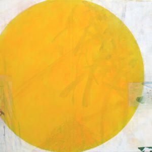Abendsonne, 2020, 70 x 100cm, Malerei-Collage auf Leinwand, Iris Flexer, 1.600 Euro