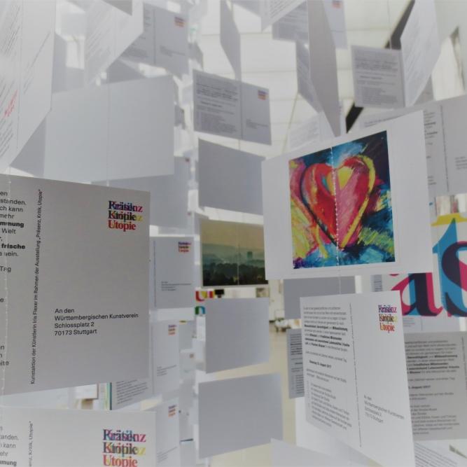 Grüne Karten 2, 2017, Postkarten, Württembergischer Kunstverein, Stuttgart, Iris Flexer