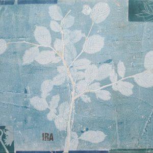 Ira, 2019, Malerei/Linolschnitt/Collage auf Leinwand, Iris Flexer