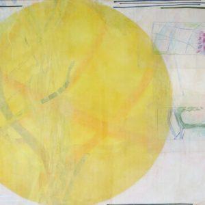 Lachender Stern, 2020, 70 x 100cm, Malerei-Collage auf Leinwand, Iris Flexer, 1.600 Euro.