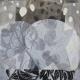 Loslassen 3, 2020, 50 x 50cm, Malerei-Linolschnitt-Collage auf Leinwand, Iris Flexer